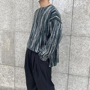 2021 Top quality Tie-dye T-shirt Men's Fashion Retro Casual Striped t Shirt Men Streetwear Wild Autumn Long-sleeved Tshirt Mens Tops 8GK6