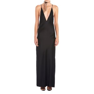New Style Silk Fabrics Evening Dress Womens Evening Dress Backless Strap Dress Wedding One Product Dropshipping