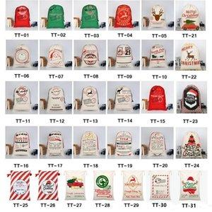 DHL Christmas Decorations New Canvas Christmas Bag Christmas Gift Mailing Bag Children Candy Bags 50*70cm