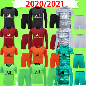 PSG jersey Yetişkin Kiti Navas 20 21 Kaleci Futbol Forması Neymar JR 2020 2021 Paris Ev Uzakta Üçüncü Mbappe Mens Set Futbol Gömlek Rico Üniforma Takım