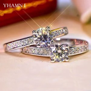 With Certificate Never Fade 100% Original 925 Sterling Rings Women Not Allergic Fine Jewelry Clear 6mm Zircon Wedding Band Gift