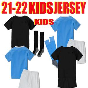 Manchester Balr Kid Futebol Jersey City suor absorvente respirável e macio jacquard crianças camisa de futebol 2020 2021 fãs sterling homens crianças
