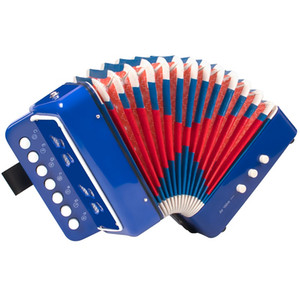 Small Accordion 7 keys Buttons Early Education musical instruments or Toy for children Blue