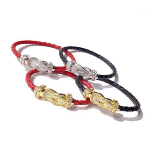New Charm Horse Shoes Bangle Bracelet for Women Femme Pulseria Costume Jewelry Decorations Double U Clasp Leather Bracelet Gifts1