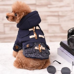 Dog Apparel Warm Pet Clothing For Clothes Small Coat Jacket Puppy Dogs Costume Wool Cotton With Buckle