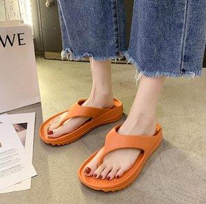 Sandali Donne Eva Pantofole Pantofole Coppia Flip Flops Uomo Nuovo Stile Stile Soft-Soled Shoused Shoes Shoes Muffins Fashion Bunette di polso denso Espositori esterni