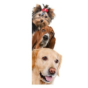 Window Stickers Dogs Cats 3D Wall Sticker Funny Door Wardrobe Fridge Decorations For Kids Room Home Decor Cartoon Animal Art Decal