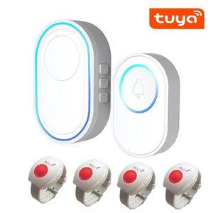 أنظمة الإنذار Tuya WiFi SOS نظام العناية المسنين في حالات الطوارئ الذعر زر ووتش سوار