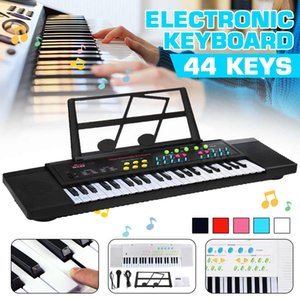 5 Colors 44 Keys Digital Electronic Keyboard Piano with Mini Microphone Music Stand for Children Music Enlightenment