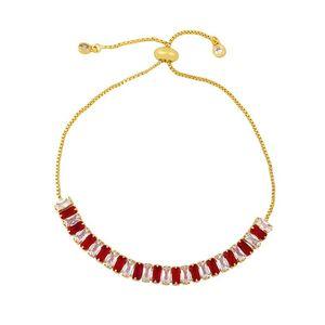 2021New Stylish Rainbow CZ Tennis Bracelet for Women Men Exquisite Fashion Charm Braclet Chain Hip Hop Bracelets No Fade Jewelry