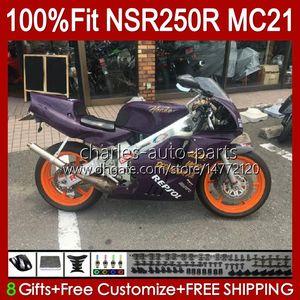 Inyección OEM para HONDA NSR250 NSR 250 R NSR250R 1990 1991 1992 1993 103HC.74 MC21 NSR 250R PGM3 NSR250RR 90 91 92 93 Failings Dark Purple