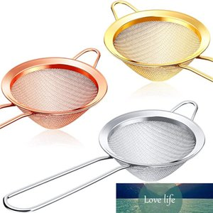 Colador de cóctel filtros de té de acero inoxidable de acero inoxidable coladores de alimentos fina Malla fina colador de barras práctica herramienta de colador