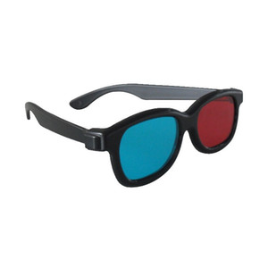 Black Frame Universal 3d Plastic Glasses red Blue Cyan 3d Glass Anaglyph 3d Movie Game Dvd Vision cinema Wholesale