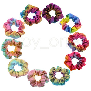 Shiny Metallic Laser Elastic Hair Band Women Girls Scrunchies Hair Rubber Ties Ponytail Holder Headband Hair Accessories Party Favor RRA4167