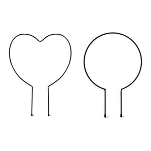 Other Garden Supplies Metal Iron Round Heart Shaped Plant Support Stake Stand For DIY Potted Climbing Plants Flower Vegetables Vine Rack
