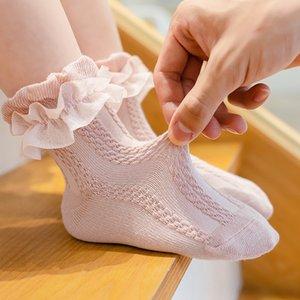 5 цветов маленьких девочек хлопок кружева носки для детей принцесса танцевальные носки для милый детский продукт M3314