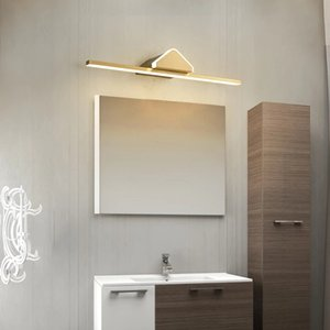 Modern Led Indoor Wall Lamps Copper Mirror Bathroom Light Vanity Lights Fixture Make Up Luminaire Warm Home Decor R224