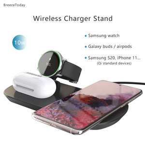 Fast Charger Wireless Charging Wireless Charger For Samsung Galaxy Buds Watch Active 1 2 3 4 S20 Note 20 Airpods 2 Pro iPhone 12 X0124