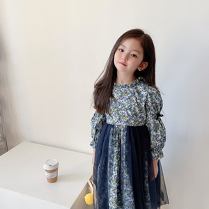 free shipping baby girl Summer dress 2021 Kids Girls Lace flowers Dress Children Girl princess party birthday dress clothing