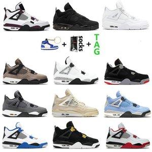 University Bred Cement 4 4S أحذية كرة السلة The Cactus White Jack Cool Gray Mens Concord Pure Money الملوك الرجال الرياضة أحذية رياضية 36-47