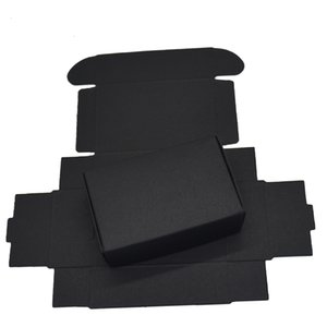 Card 9.4x6.2x3cm Black Cardboard Boxes Gift for Wedding Package Kraft Paper Birthday Candy Crafts Wrapping Decoration Box 50PCS