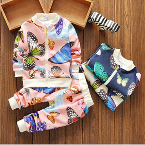 2021 hot New autumn tracksuit kids clothing hoodies set children sport suit costumes boys girls sweatshirt+pants