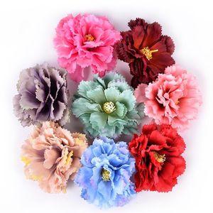 5pcs 인공 꽃 웨딩 홈 장식 9cm 실크 카네이션 DIY 공예 가짜 꽃 화환 선물 Scrapbooking Acc Jllgja