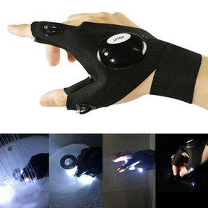 Spedizione gratuita per esterni pesca magica cinturino senza dita Glove LED torcia torcia copertura sopravvivenza campeggio escursionismo strumento di salvataggio 245 W2