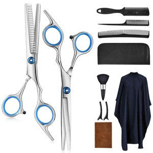 Professional dressing Kit Stainless Steel Barber Scissors Tail Cloak Hair Cut Comb Styling Tool