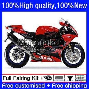 Body Kit For Aprilia RSV1000R Mille RV60 RSV 1000 R 1000R 2003 2004 2005 2006 Cowling 9No.87 RSV1000RR RSV1000 RSV-1000 R RR Red blk hot 03 04 05 06 Motorcycle Fairing