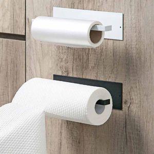 Toilet Paper Holders Kitchen Accessories Under Cabinet Roll Rack Towel Holder Tissue Hanger Storage Bathroom Organizer Shelf