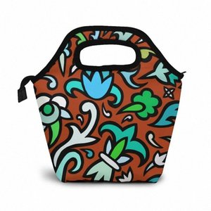 Art Is Wallpaper Lunch Bag Boxes Bags Portable Insulated Picnic Box For Women Men V01X#