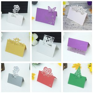 98Pcs Guests Name Place Invitation Table Card Wedding Favor Decoration Laser Cutting Party Seating Card Table Cards name card 5