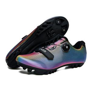 Chaussures de vélo de montagne hommes femmes cyclisme baskets mtb respirant voiture auto-verrouillable chaussure de vélo homme coloré chaussures d'athlétisme mâle