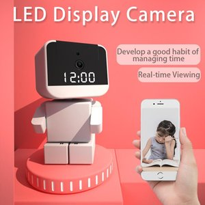 Marlboze 1080P HD Camera WiFi 360 Inteligente Home P2P Robot Baby Monitor LED Tempo Display APP Control Furvilance CCTV Câmera