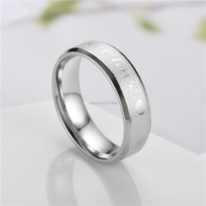 Stainless Steel Love Forever Ring Silver Gold Heart Ring Band Couple Rings for Women Men Fashion Jewelry Gift Will and Sandy