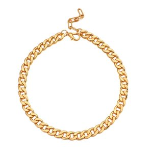 Basic Punk Metal Gold Color Necklace for Men Women Curb Cuban Link Chain Choker Necklace Vintage Metal Couple Collar