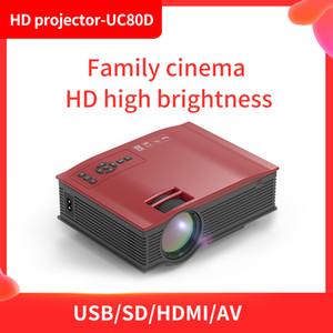 جودة عالية HD LED العارض UC80D الصفحة الرئيسية فيلم لعبة سلك المراغط العارض للفئة على الانترنت فيلم متعاطي المخدرات 1080P projetors