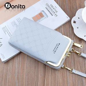 2021 Mobile Phone Bag Simple Diagonal Single Shoulder Card Slots Zipper Long Wallet Vertical Style Double Layer