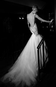 Lace Wedding Dresses Mermaid Summer Spring Bridal Gowns Spaghetti Straps Backless Beading Tulle Sexy Wedding Gowns high quality gowns