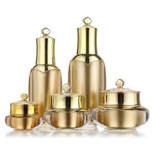 5 Dimensione Vuota Crema Crema Bottiglia Corona Forma Plastica Rifinible Cream Cream Viaggi Lozione Trucco Contenitore Cosmetic Pot JAR M02399 T6i2