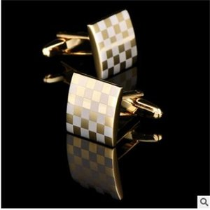 NEW Square roundness cuff shirts business suit men cufflinks French metal cuffs links shipping free
