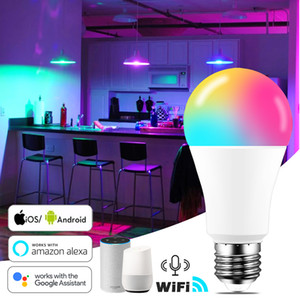 15W WiFi Smart Light Bulb B22 E27 LED RGB Lamp Work with Alexa Google Home 85-265V RGB+White+Warm white Dimmable Timer Function RGB Bulb