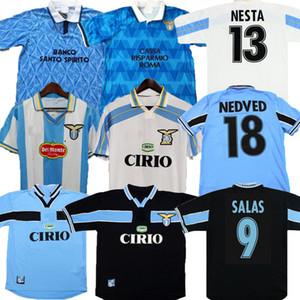 Rétro Latio 1989 1990 1998 1998 1999 2000 Jerseys de football Nedved Simeone Salas Gascoiigne 89 91 98 99 00 01 Veron Crespo Nesta Shirts