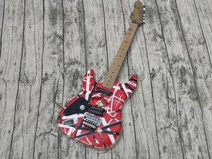 Aged Edward Eddie Van Halen Heavy Relic Striped Frankie Electric Guitar, Left-Handed ST Shape Maple Neck, Floyd Rose Tremolo & Locking Nut