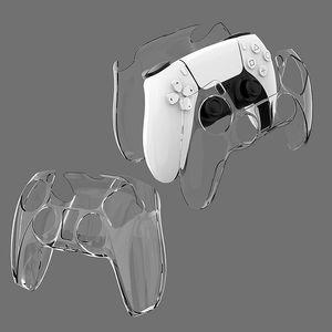 Nouveau contrôleur PS5 en plastique Crystal Crystal Coquette PS5 Poignée transparente Étui cutané de protection pour accessoires de contrôleur de jeu sans fil 4 couleurs