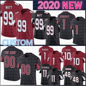 99 J.J. Watt Özel Kyler Murray 11 Larry Fitzgerald Futbol Jersey Arizona