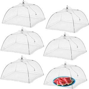 Сетка пищевые охватывает столовые украшения палатка зонтик на открытом воздухе вечеринки пикники BBQS складной GWB8572
