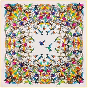Foulard carré en soie pour femmes 130cm Beautiful Design motif imprimé luxe élégant soie de soie élégant mouchoir en soie vraie