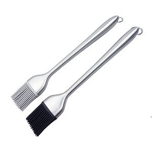 304 Stainless Steel Oil Brush Barbecue Tool High Temperature Resistant Silicone Brush Head Household Baking BBQ Brush AHF5104